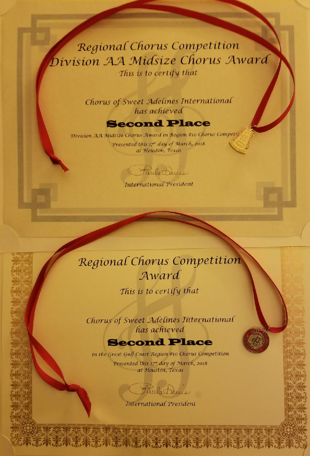 Crescent City Sound Chorus 2018 03 31 News Item Ccsc Home Electrical Wiring Items Recently Attended The Sweet Adelines Region 10 Contest In Houston Texas Were Proud To Announce That We Won 2nd Place