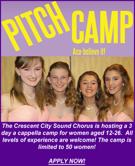 Pitch Camp A Cappella Camp for Young Women