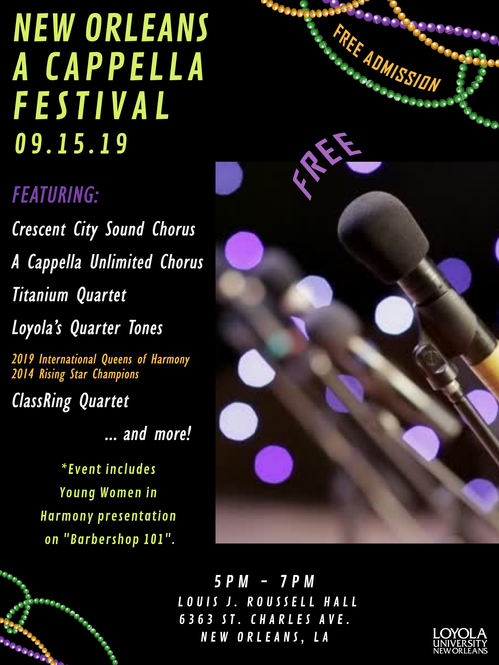 New Orleans A Cappella Festival 2019
